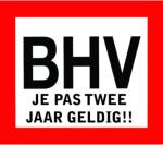BHV op eigen locatie pas 2 jaar geldig